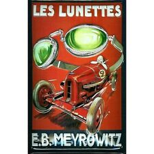 """MEYROWITZ LUNETTES/ GOGGLES, EMBOSSED(3D)  VINTAGE-STYLE SIGN, 12""""X 8"""" 30x20cm"""