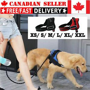 Dog Harness No-Pull Reflective Breathable Adjustable Pet Vest w/ Handle Walkin