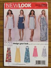 NEW LOOK PATTERN - 6902 GIRL'S DRESS HALTER NECK STRAPS  3/4 -13/14 UNCUT