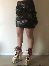 WNTRMSE - Winter Muse -Designer Skirt, Black PU, Goth, Punk, Skater - Fast Post!