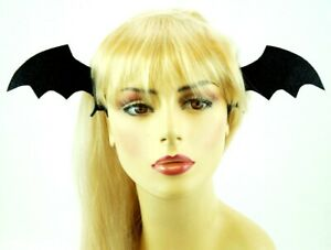 Black Bat Wings Hair Clip Halloween Costume Party Cosplay Vampire Gothic