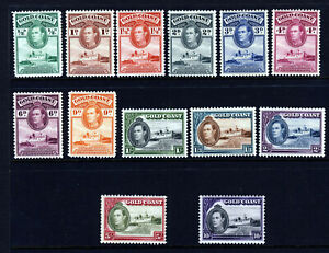 GOLD COAST KG VI 1938-43 The Full Christiansborg Set Perf 12 SG 120 to 132 MINT