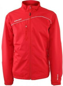 BAUER RED MID WEIGHT WARM UP JACKET
