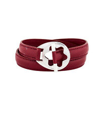 Montblanc Red Leather Hold Me Tight Bracelet