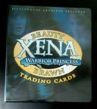 Xena Warrior Princess Beauty and Brawn trading cards binder album
