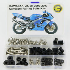 For Kawasaki ZX-9R 2002 2003 Steel Fairing Bolts Screws Fasteners Kit Silver