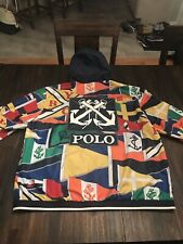 Polo Ralph Lauren Newport Nautical Flag Print RLYC Windbreaker Jacket Sz XL $628