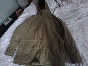 Mens Barber Fulbourn jacket XL detachable hood waterproof lined