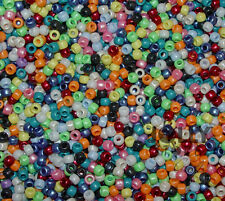 Mutli Pearl Colors 9x6mm Pony Beads 500pc made in USA crafts hair kandi jewelry