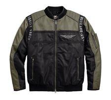 Harley-Davidson Men's Mainstreet Nylon Bomber Jacke Gr. XL Herren, Schwarz Grün
