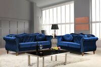 Gracewood Hollow Mantel Mid-century Nailhead Chesterfield Sofa Set