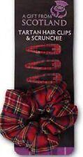 Tartan pinces à cheveux et scrunchie-Royal Stewart - 4 clips - 1 scrunchie