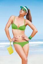 PRINCESSE TAM TAM Bandeau BIKINI Swimwear SET Lime GREEN 2-Piece S $215