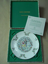 Vintage 1977 Royal Doulton Merry Christmas plate / 1 st of series / bone china