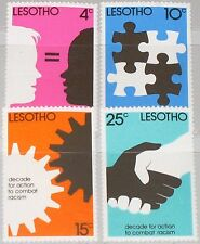Lesotho 1977 241-44 fight against racism White & Black equal against racism MNH