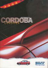 Seat Cordoba folleto 7 96 brochure 1996 auto automóviles auto folleto folleto España