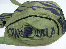 "HEAD WRAP ""POW/MIA- BLACK ON AVOCADO GREEN"" with sweatband, lightweight, HWH1021"
