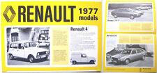 Renault 4 5 6 12 16 15 17 20 30 1976-77 UK Brochure