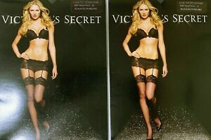 Victoria's Secret Lace Top Stockings BLACK Size: B (2 PACKS)