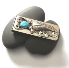 Money Clip ~ ~ Turquoise Silver Leaf/Bead/Swirl