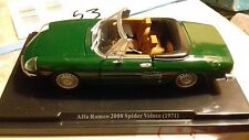 1:24 Quattroruote Collection Alfa Romeo 2000 spider veloce (1971)