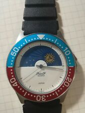 PETER F - Japan watch diver quartz Moonphase vintage - very very rare (New)