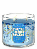 Bath & Body Works FROSTED COCONUT SNOWBALL 3-Wick Candle - 2020 Winter Gift