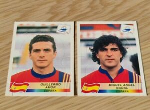 Panini France 98  #239 Guillermo Amor + #233 Miguel Angel Nadal POP UP STICKERS
