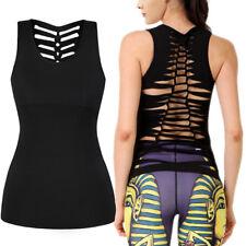 Women Workout Tank Top T-shirt-Gym Clothes Fitness Yoga Lift Sexy VEST Blouse