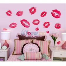 Sexy Red Kiss Lips Marylin Monroe Style Wall Stickers Home Room Decor PVC Decal