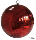 HUGE 12 INCH RED MIRROR DISCO BALL party supplies reflection mirrors dj novelty