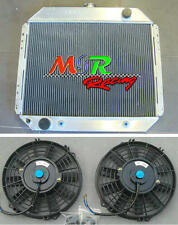 for 1967-1981 Ford F100 F250 F350 V8 3rows aluminum radiator AT/MT & 2 FANS new