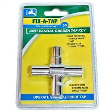 Fix-A-Tap 4-Way Anti Vandal Proof Security Tap Handle Key For Garden Water Brass