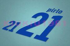 Italy Pirlo #21 World Cup 2010 Awaykit Nameset Printing