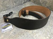 Versacarry Cobra Leather Rifle Sling with Swivels - Brown 9RFF Brass Hardware