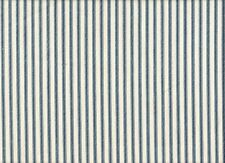 NEW 2 French Country Ticking Stripe Nautical Blue Standard Shams Cotton Lined