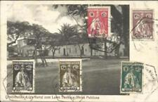 """Quelimane Sc#25-29 QUELIMANE 19/5/23 postcard view """"Liga Naval com Lawn Tennis"""