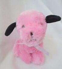 """Puli International Pink Black Puppy Dog Plush Soft Toy Stuffed Animal 7"""""""