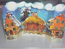 alter Weihnachtskalender EDUSCHO - Bremen -- Klappbar Häuserfront Weihnachten