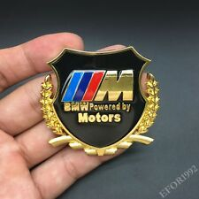 Metal M Power Motors Emblem Car Badge Decal Sticker For BMW  X3 X5 M2 E36 Z4 GT