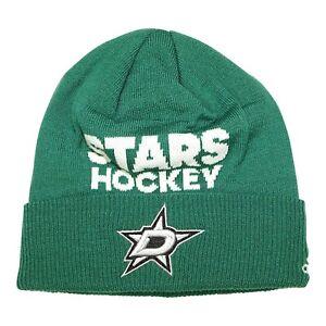 Dallas Stars NHL Men's Adidas Cuffed Beanie, One Size, Green