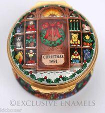 Halcyon Days Enamels Christmas 1991 Dated Enamel Box
