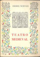 TEATRO MEDIEVAL FERNANDO LAZARO CARRETER EDITORIAL CASTALIA 1970    TC11981 A6C1
