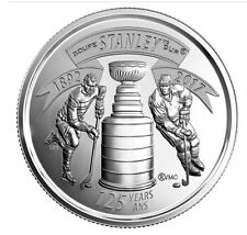 CANADA 2017 STANLEY CUP 125TH ANNIVERSARY BRILLIANT UNCIRCULATED 25 CENT COIN!