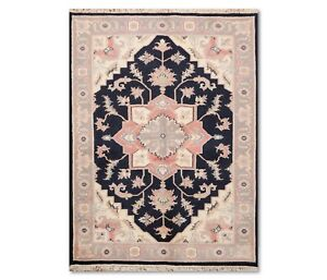 """5'9"""" x 8'7"""" Hand Knotted Rare Romanian Herizz 100% Wool Oriental Area Rug Ivory"""