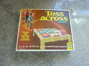 1969 Toss Across Tic Tac Toe Game by Ideal - Still Sealed New in Box