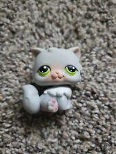Authentic Littlest Pet Shop Lps Persian Cat #182 Grey Kitten Cat Green Eyes