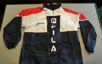 vintage nautical Fila wind breaker jacket red white blue