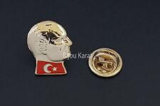 Mustafa Kemal Atatürk Türk Bayragi Rozeti Rozet Anstecknadel Pin Gold Türkei