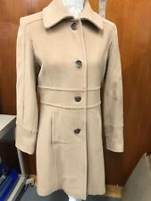 Andrew Marc NEW YORK Camel Pea Coat Cashmere/Wool Blend Size 8